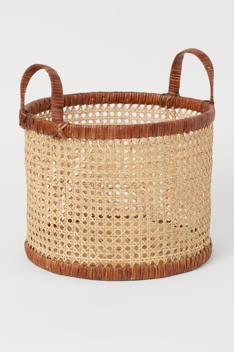 Rattan Basket Light Beige Home All H M Us