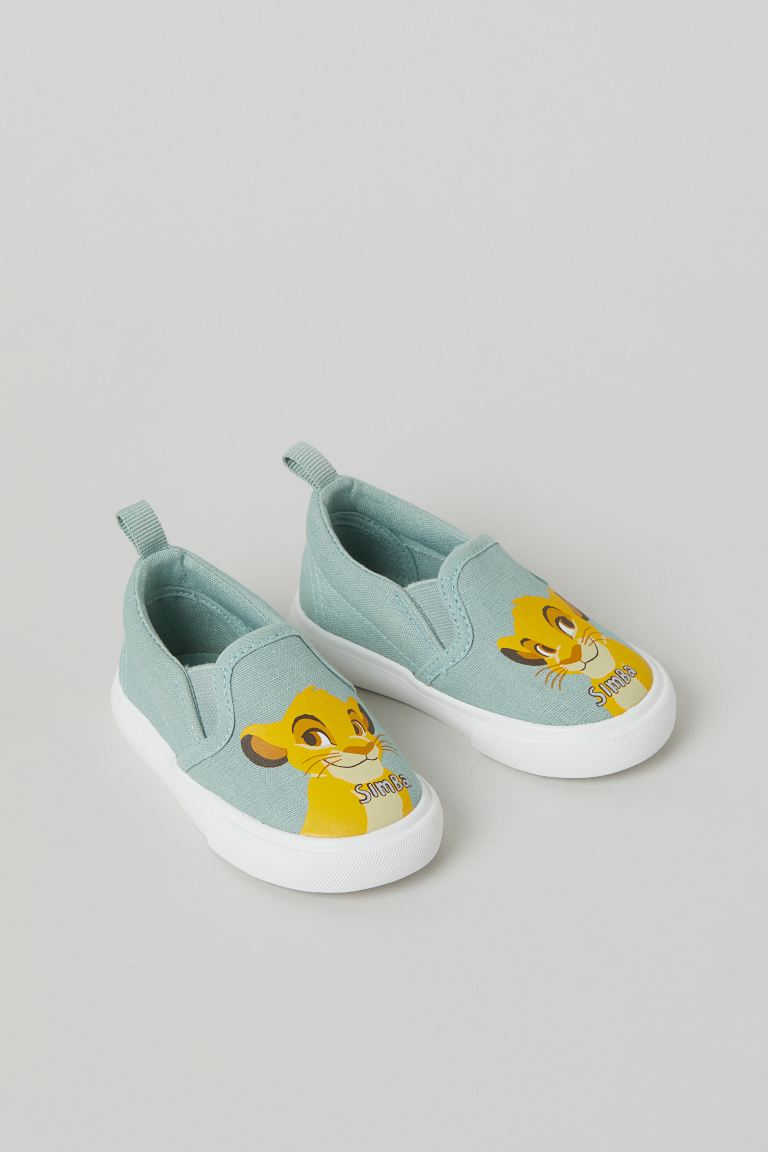 Slip-on trainers - Mint green/The Lion King - ENFANT | H&M FR