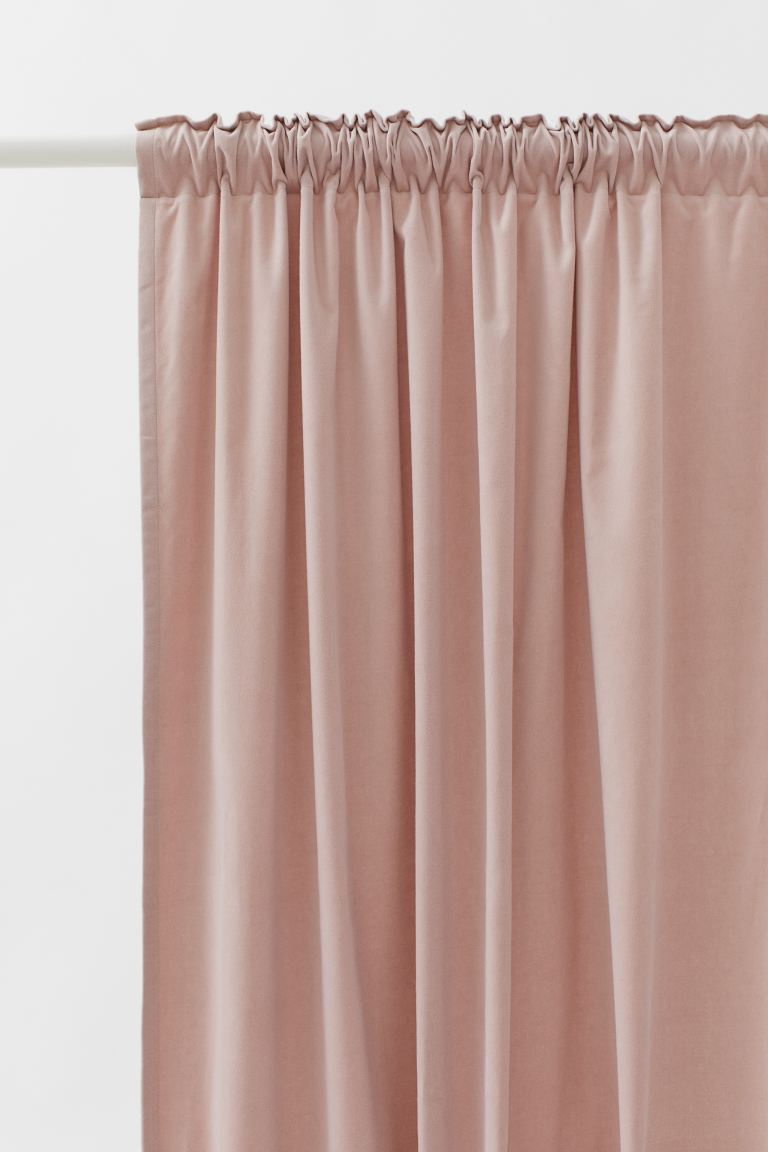 2-pack cortinas de terciopelo - Cipria - Home All | H&M US