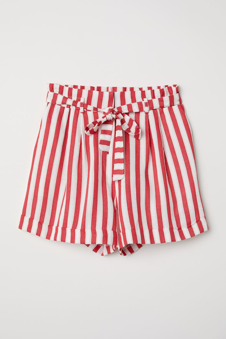 progettista lotto Può essere ignorato  Striped Shorts - Red/white striped - Ladies | H&M US