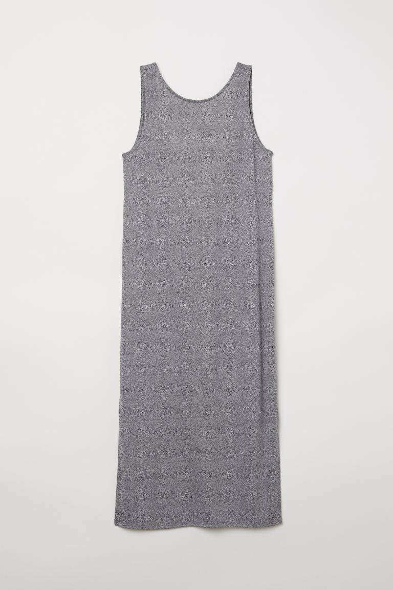 Knee-length jersey dress - Grey marl - Ladies | H&M GB