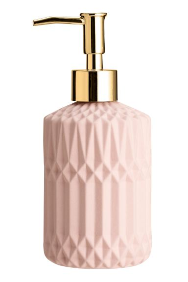 Stoneware soap dispenser - Light pink - Home All | H&M GB