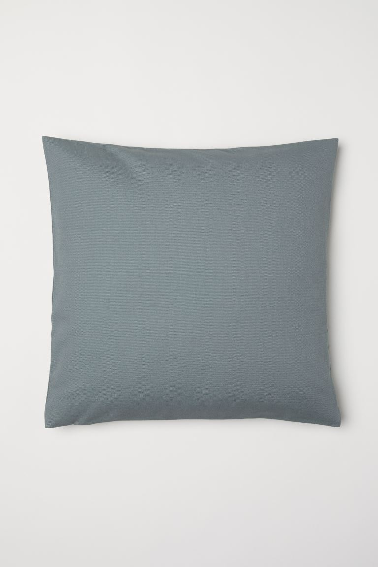 Canvas Cushion Cover - Khaki green - Home All | H&M US
