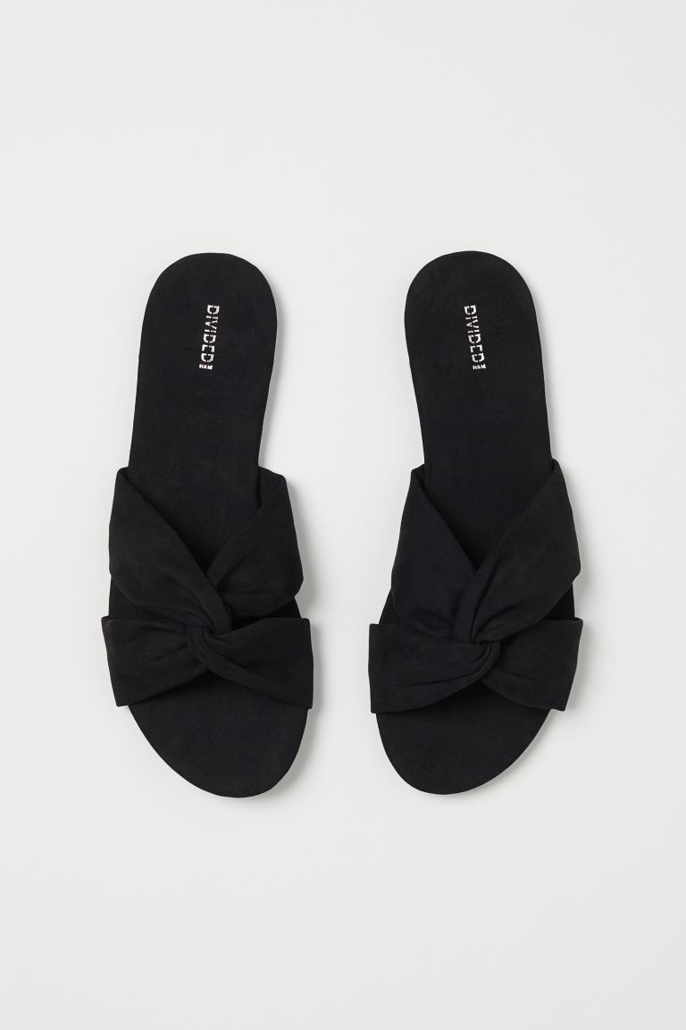 Slides - Black - Ladies | H&M GB