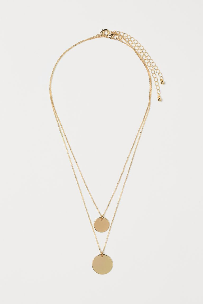 2-pack Necklaces - Gold-colored - Ladies | H&M US