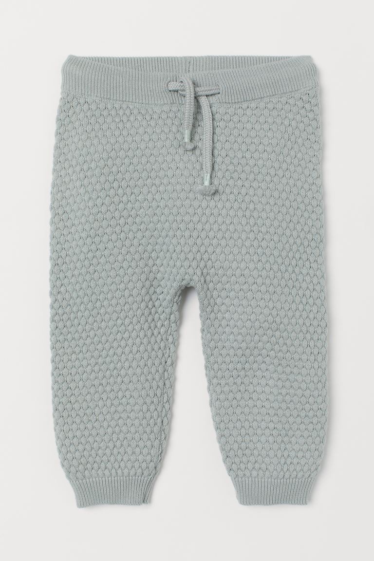 Textured-knit Pants - Dusky green - Kids | H&M US