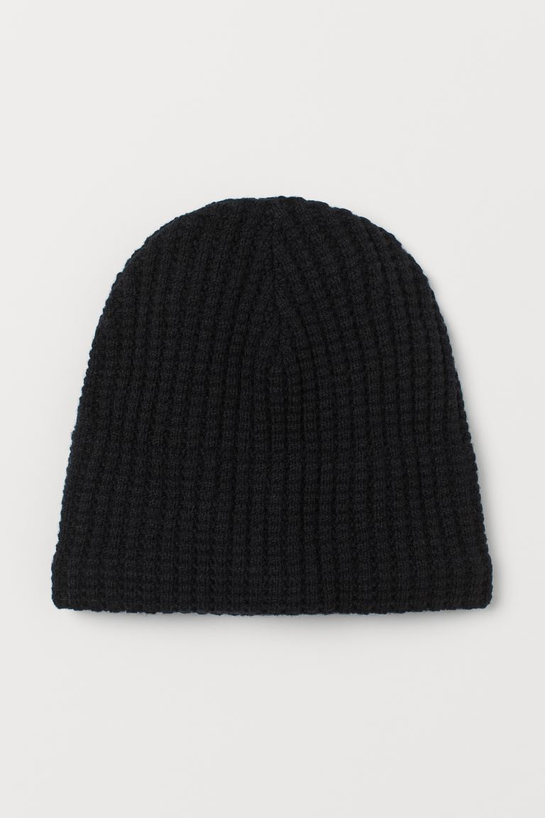 Wool-blend hat - Black - Men | H&M GB