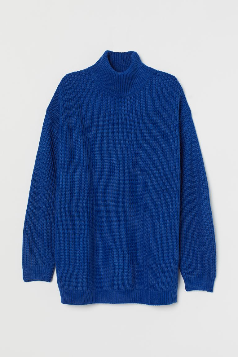Turtleneck Sweater - Bright blue - Ladies | H&M US