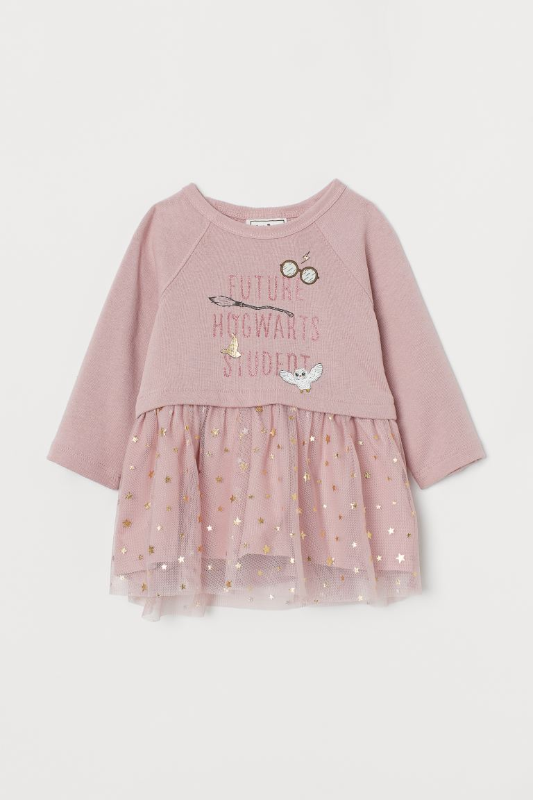 Tulle-skirt dress - Light pink/Hogwarts - Kids | H&M