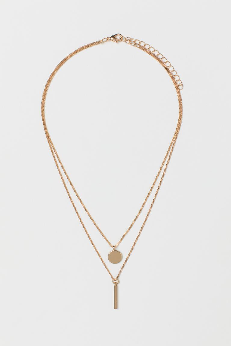 Two-strand necklace - Gold-coloured - Ladies | H&M IN
