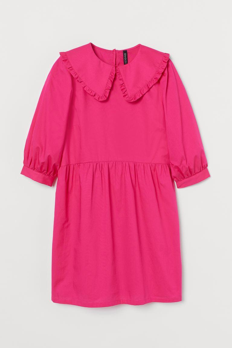 Collared poplin dress