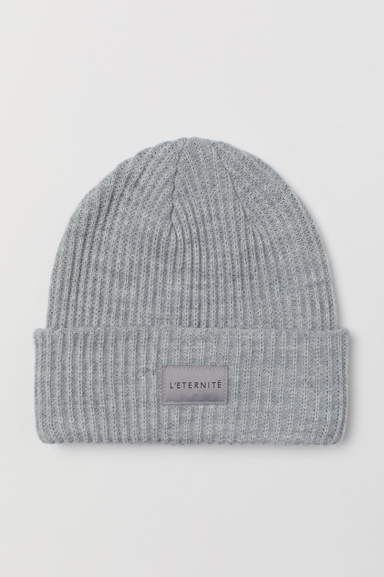 Rib-knit Hat - Light gray melange - Ladies | H&M US