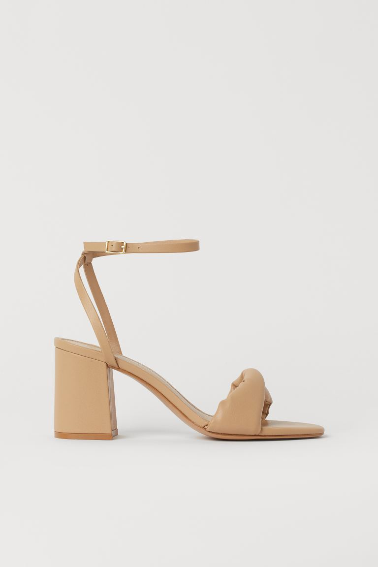 Twisted-strap sandals - Beige - Ladies | H&M