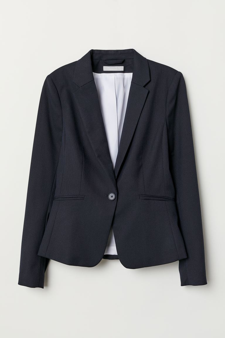Figurbetonter Blazer - Dunkelblau - Ladies | H&M AT