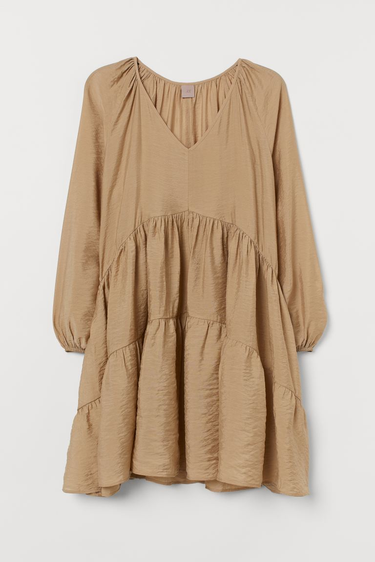 H&M+ A-line Dress - Beige - Ladies | H&M US