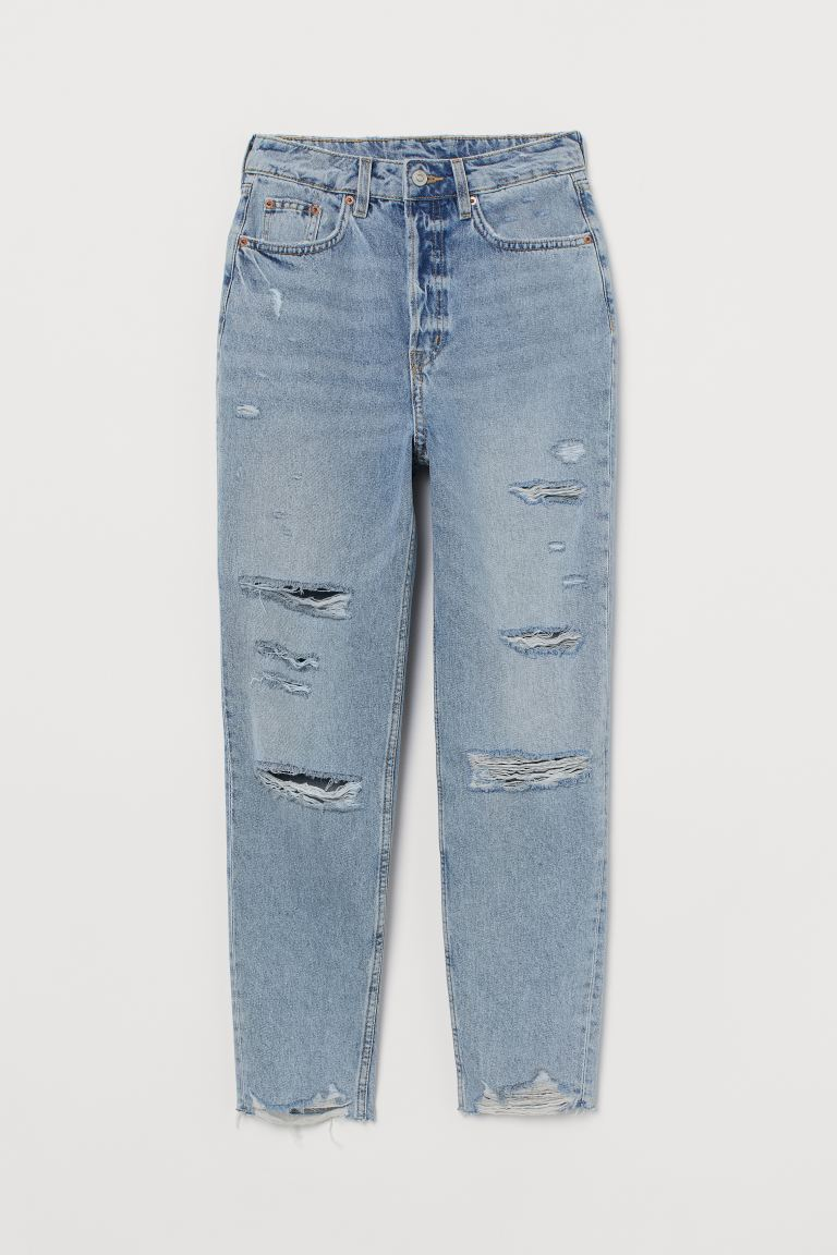 Slim Mom High Ankle Jeans - Azzurro - DONNA | H&M IT