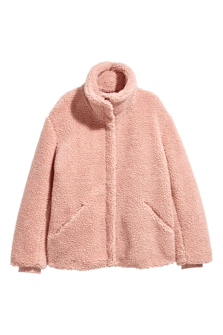 Pile jacket - Powder pink - Ladies | H&M IE