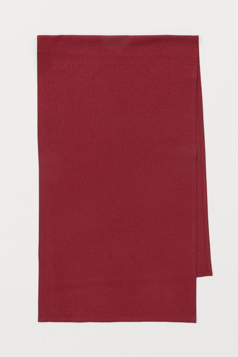 Glittery cotton table runner - Dark red - Home All | H&M GB