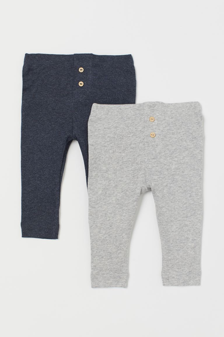 2-pack de leggings - Gris jaspeado claro - Kids | H&M MX