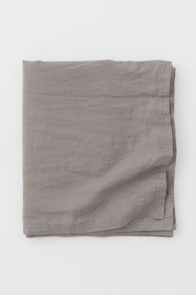 Nappe en lin lavé - Gris - Home All | H&M CA