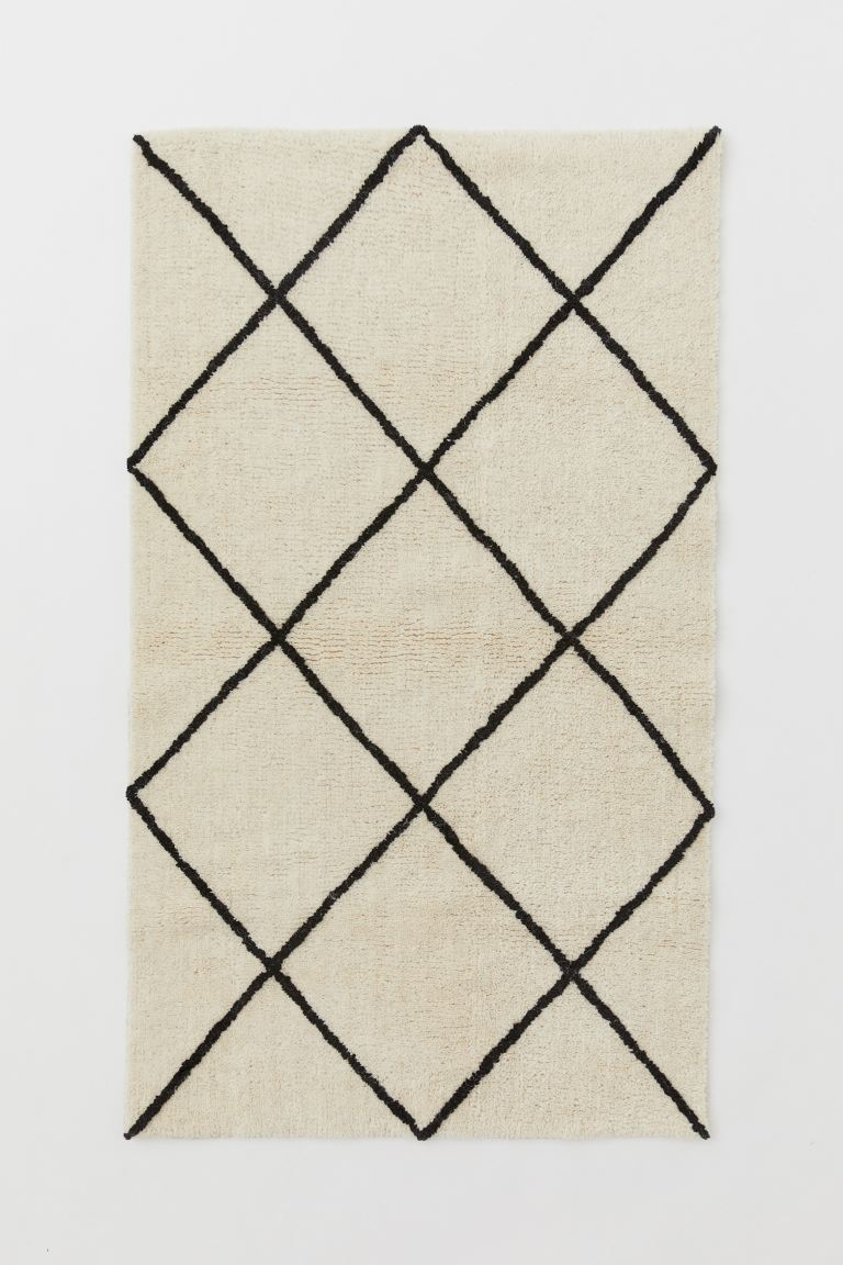 Short-pile Rug - Light beige/charcoal gray - Home All | H&M US
