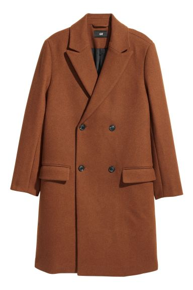 Double-breasted coat - Brown - Men | H&M GB