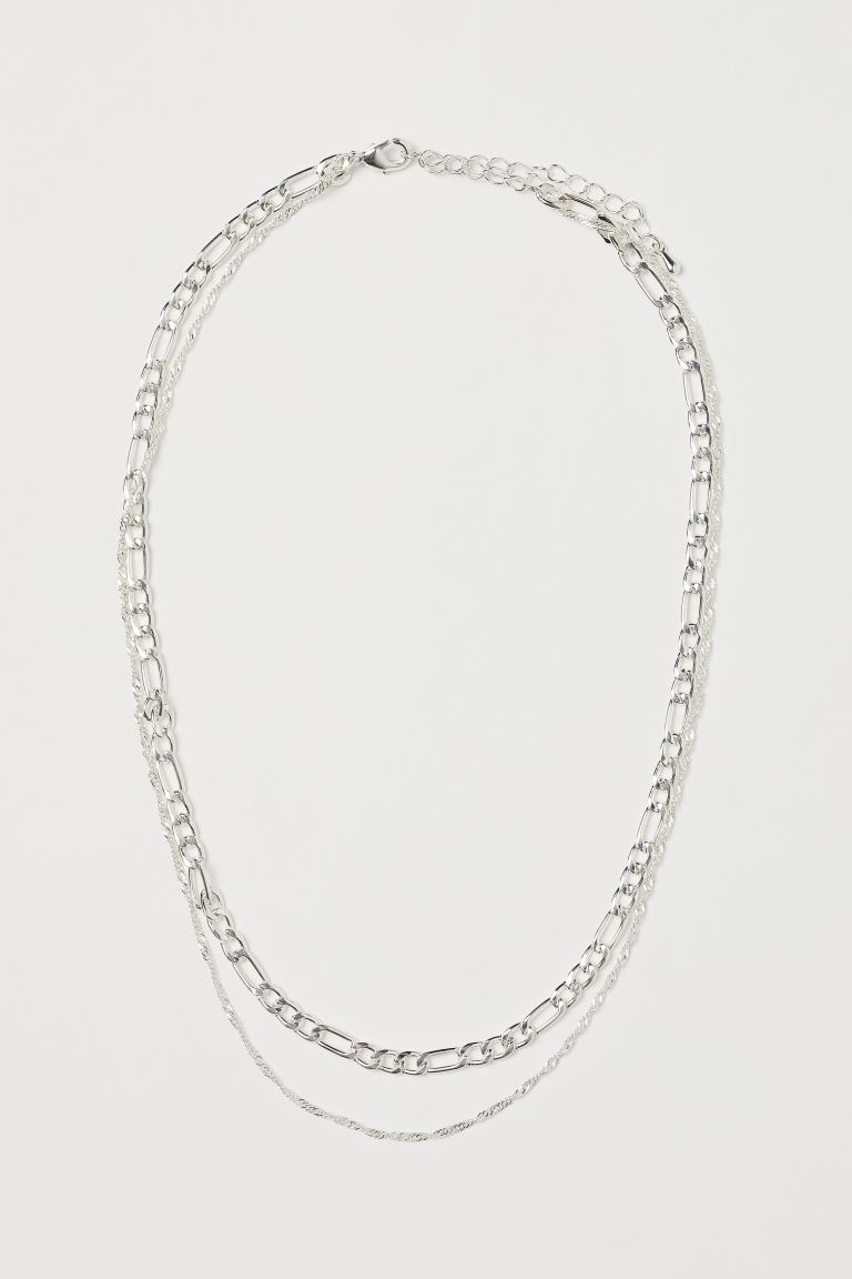 Two-strand necklace - Silver-coloured - Ladies | H&M IN
