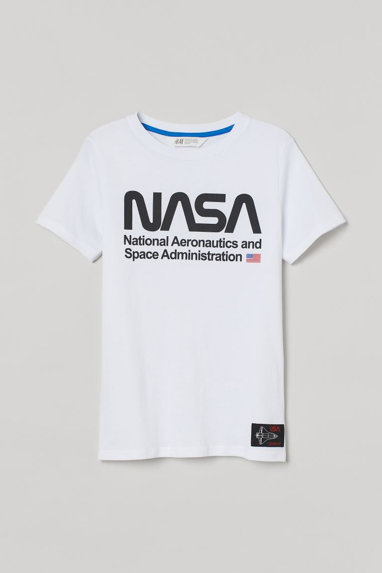 Playera estampada - Blanco/NASA - Kids | H&M US