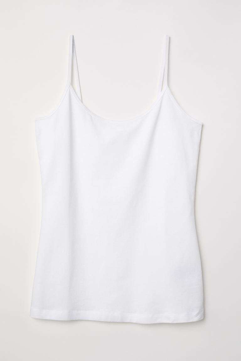 Basic strappy top - White - Ladies | H&M GB