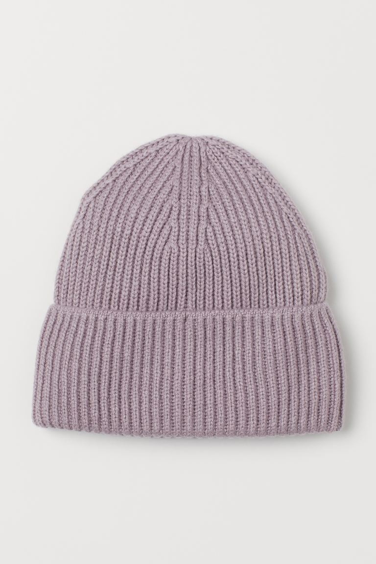 Ribbed hat - Light purple - Ladies | H&M US
