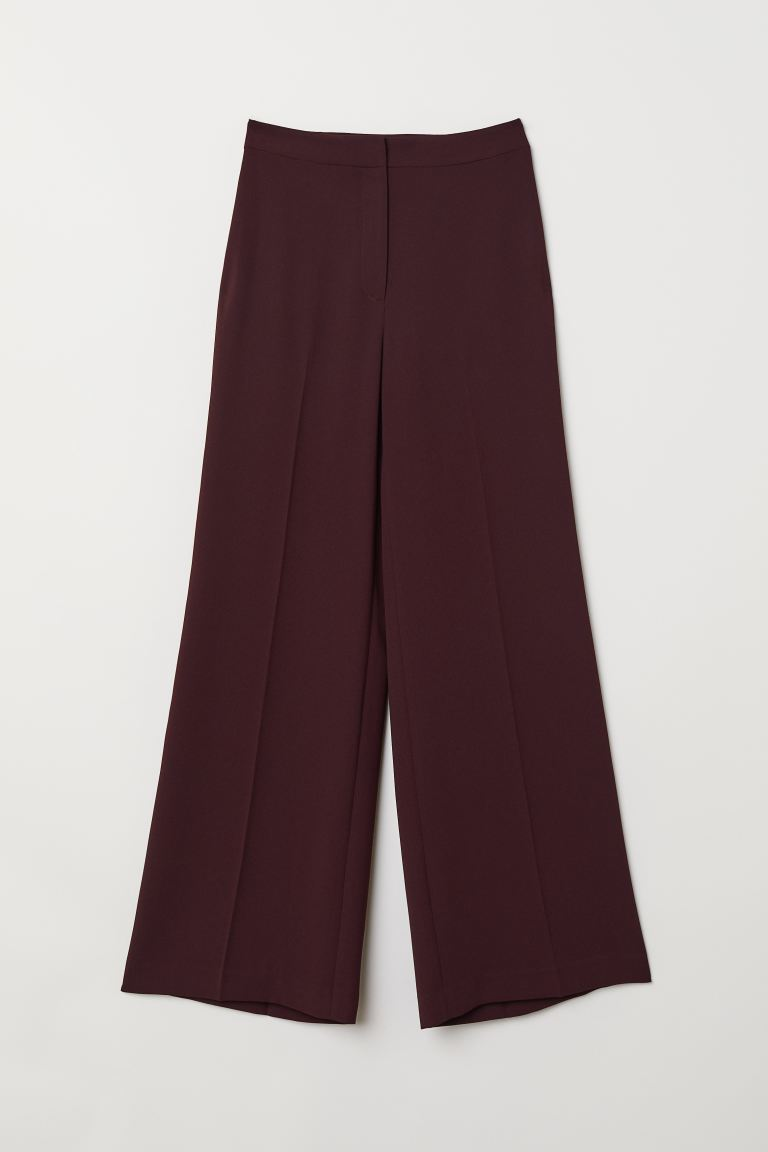 Wide trousers - Burgundy - Ladies | H&M GB