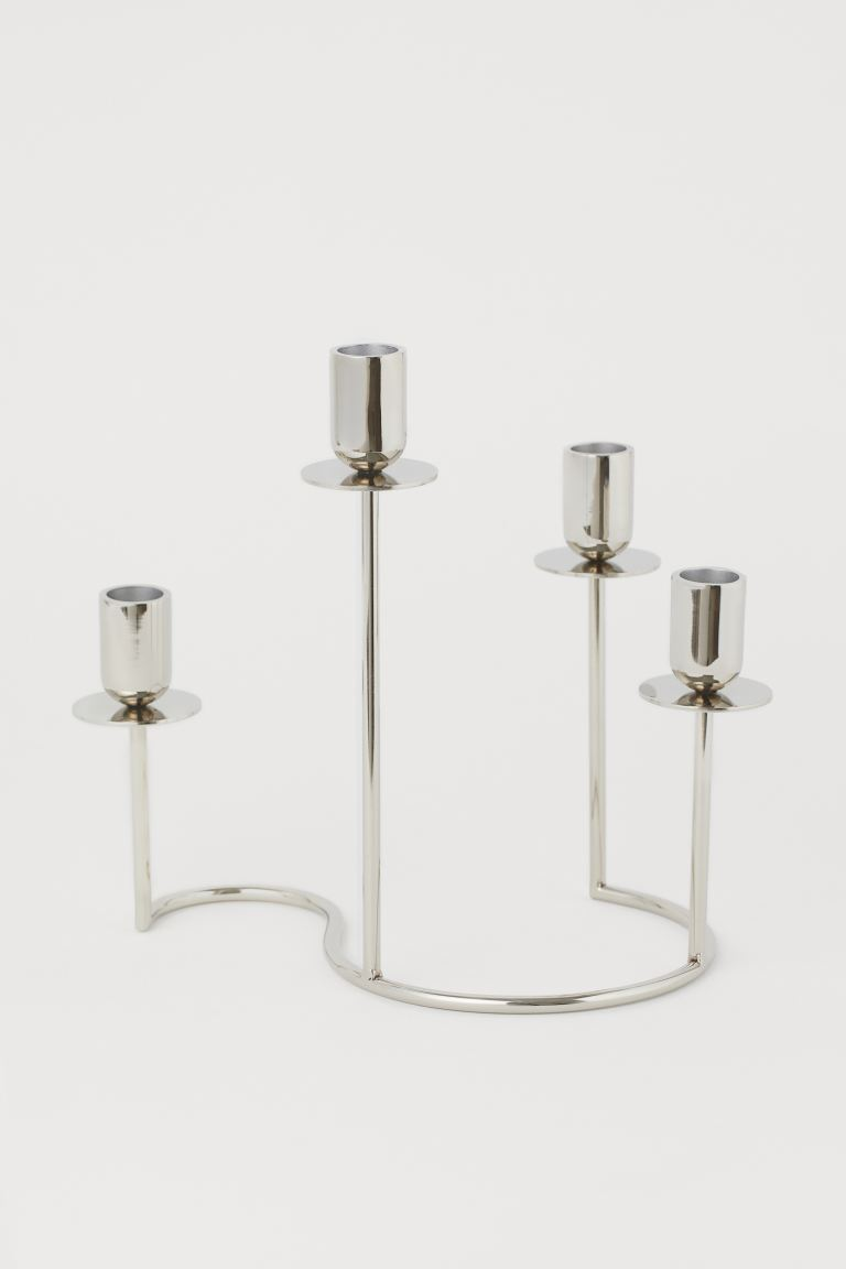 Candelabro in metallo - Argentato - HOME | H&M IT