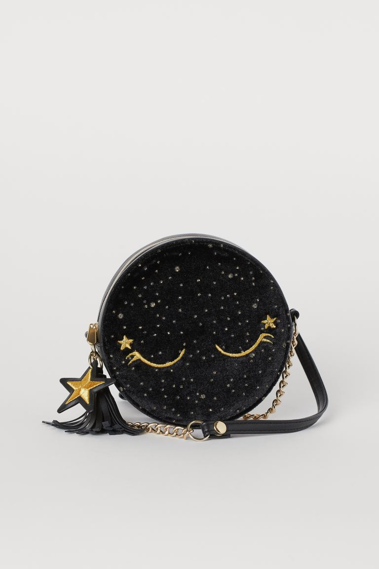Round shoulder bag - Black/Stars - Kids | H&M GB