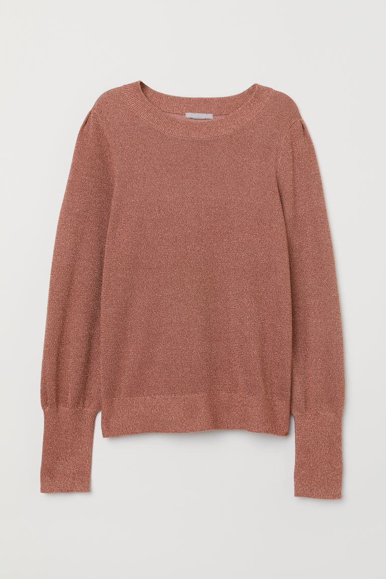 Fine-knit Sweater - Pink/glittery - Ladies | H&M US