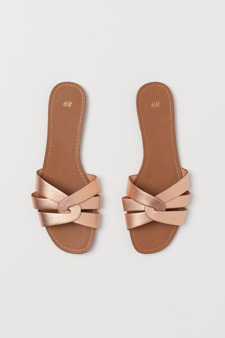 Slide - Rose gold colour - Ladies | H&M AU