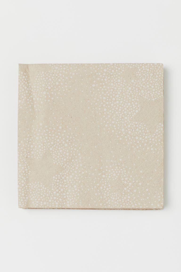 Tovaglioli di carta, 25 pz - Beige/fantasia - HOME | H&M IT