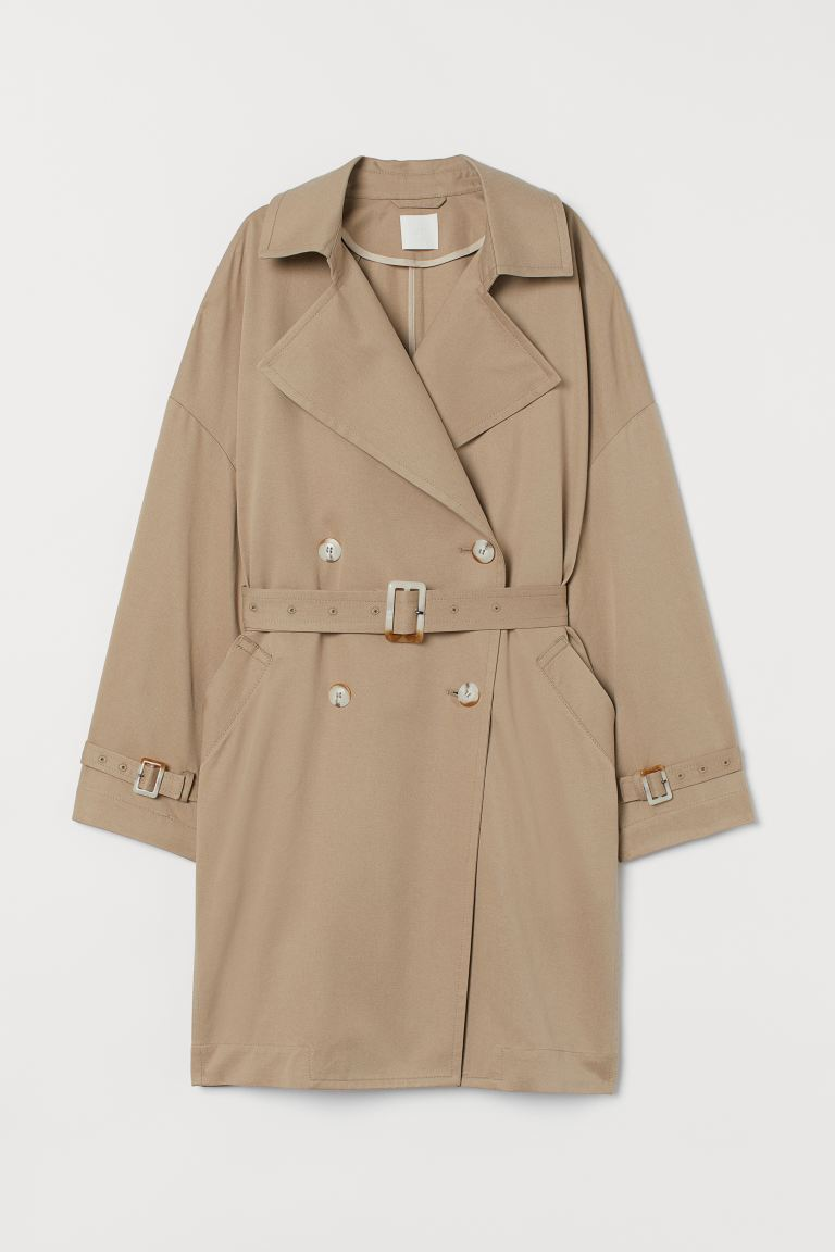 Oversized Trenchcoat - Beige - Ladies | H&M US