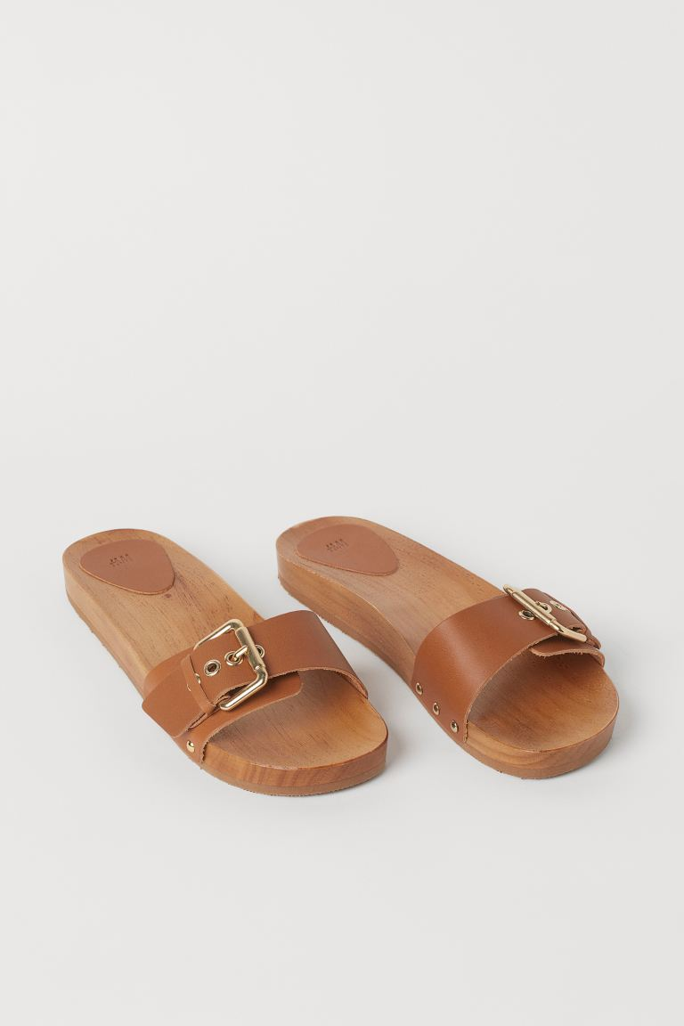 Slides - Light brown - Ladies | H&M