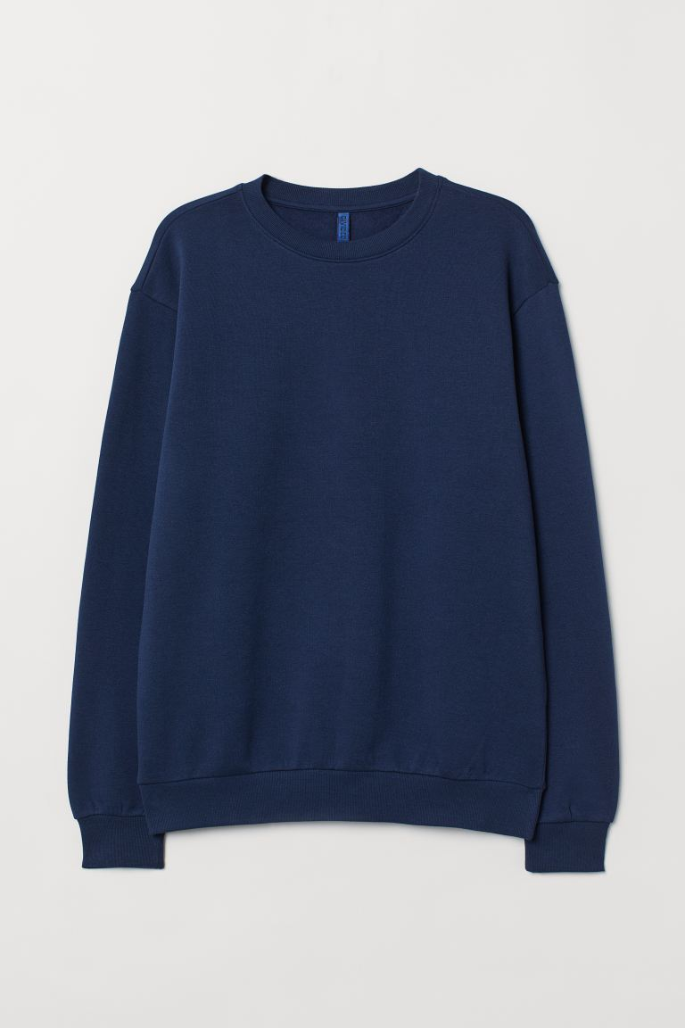 Relaxed Fit Sweatshirt - Dark blue - Men | H&M US