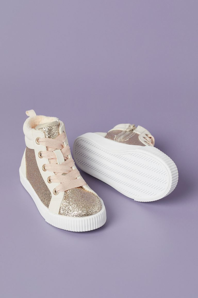 Shimmery High Tops - Gold-colored/glittery - Kids | H&M US