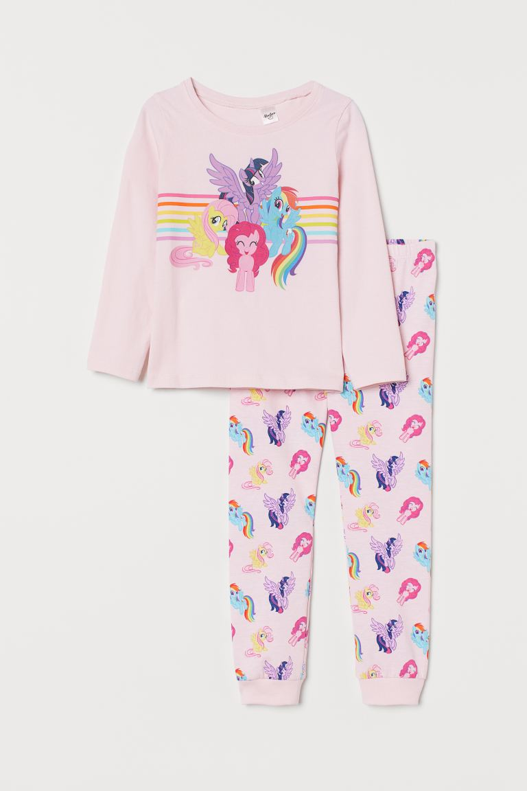 Pijama de punto - Rosa claro/My Little Pony - Kids | H&M MX