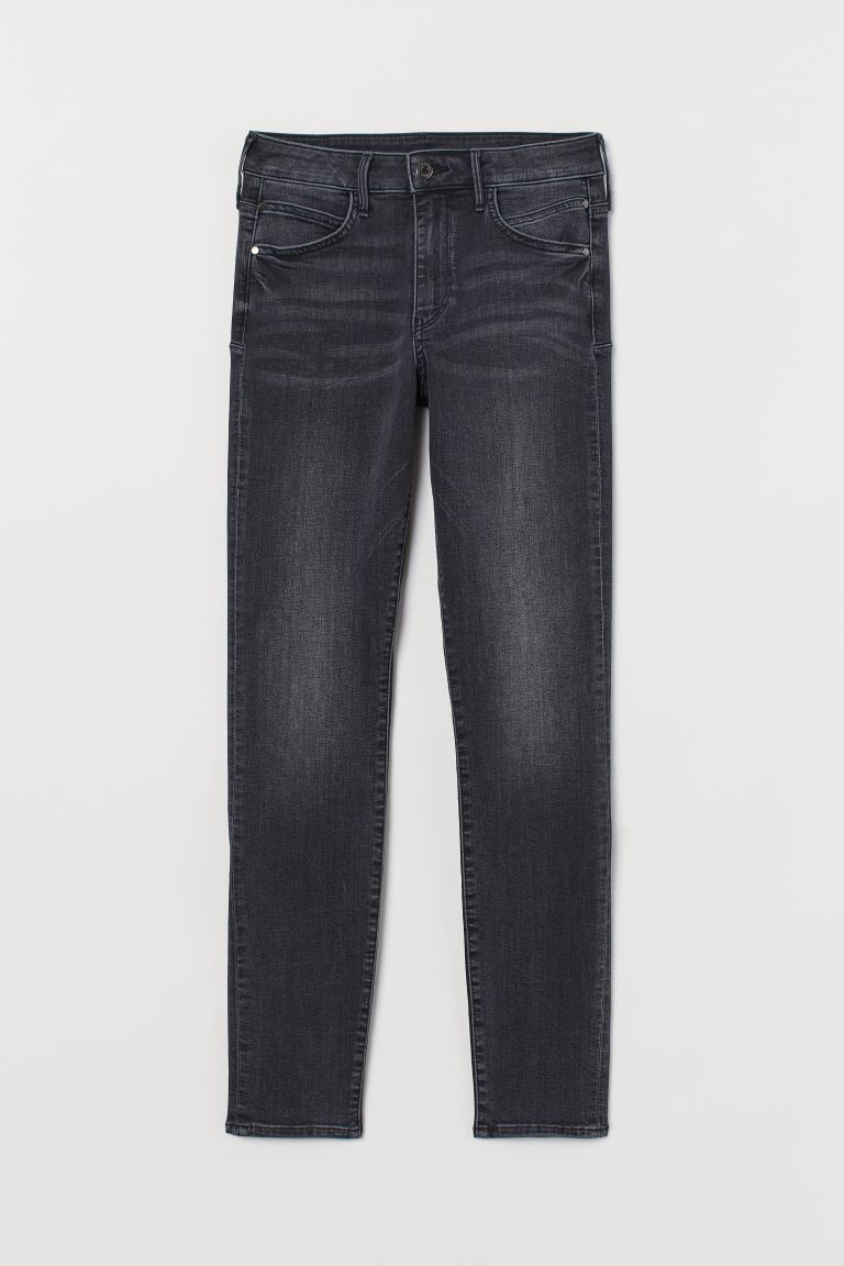 Push up shaping High Jeans - Svart/Washed out - DAM | H&M SE