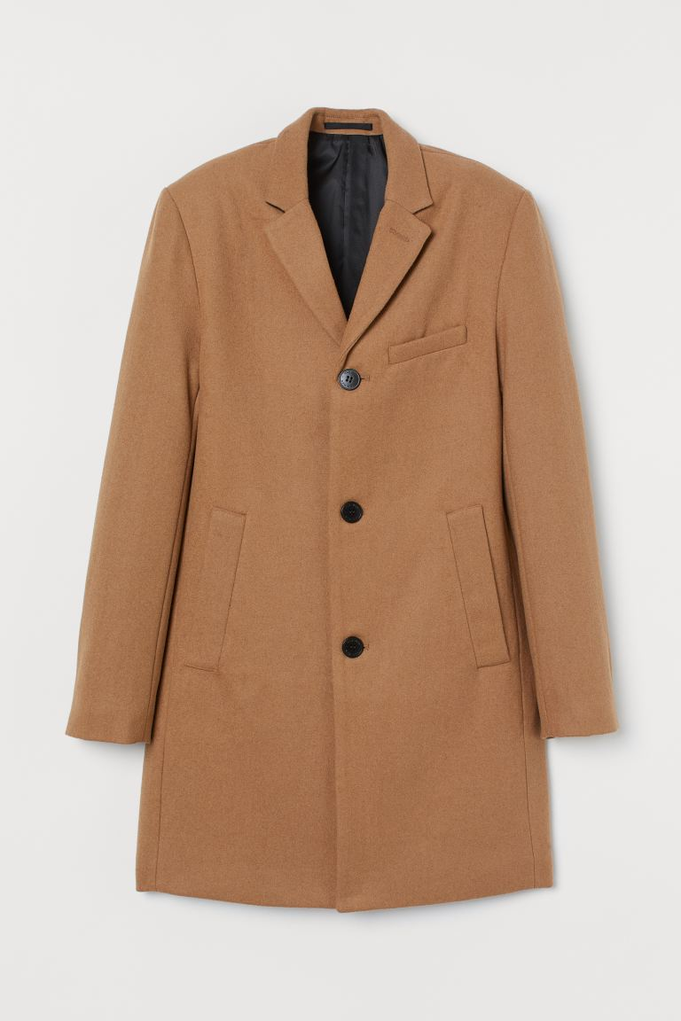 Wool-blend coat - Beige - Men | H&M GB