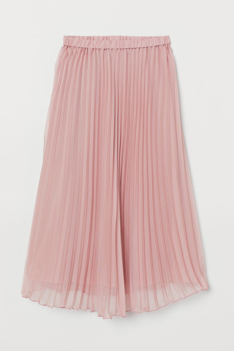 Pleated Skirt - Powder pink - Ladies | H&M CA