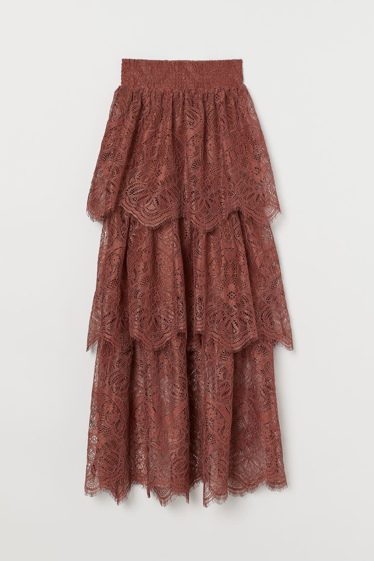Lace Skirt - Rust brown - Ladies | H&M US