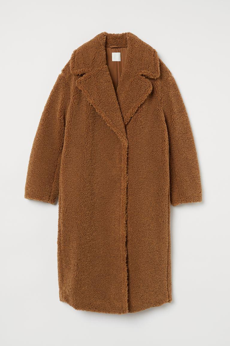 Mantel aus Teddyfleece