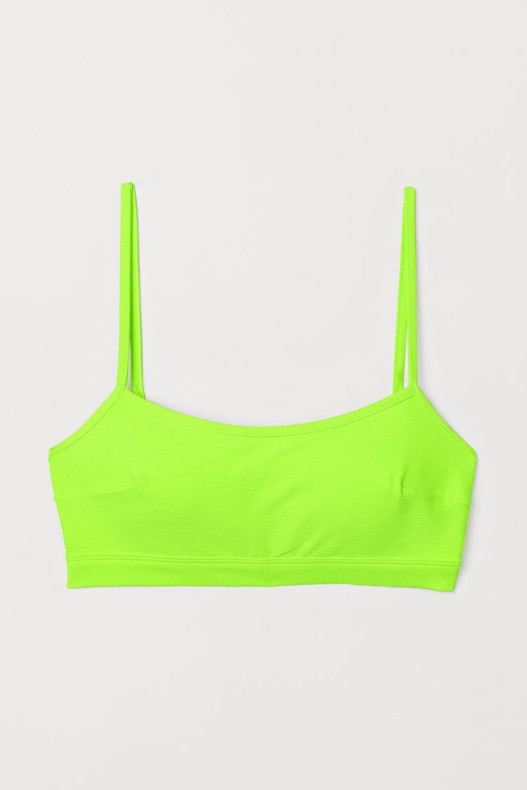 H&M-Bikinitop in strahlendem Neongrün