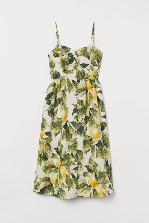 Lemon Linen Blend Dress