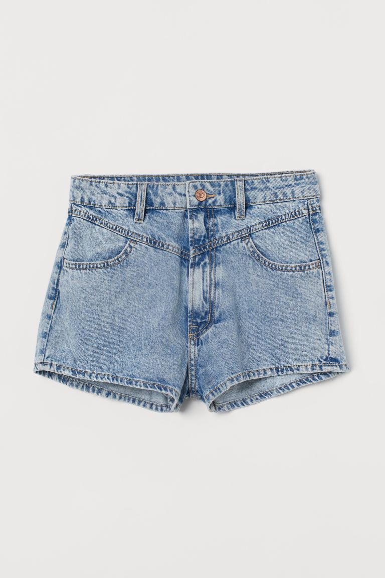 Denim High Waist Shorts