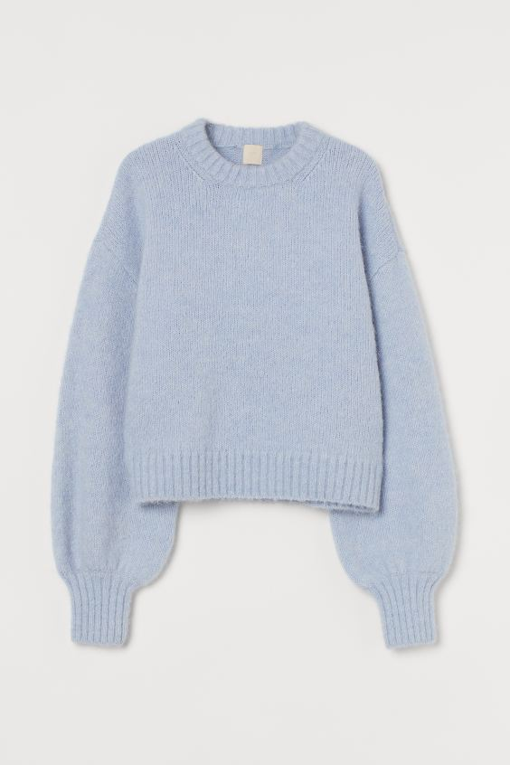 Light Blue Fine Knit Jumper